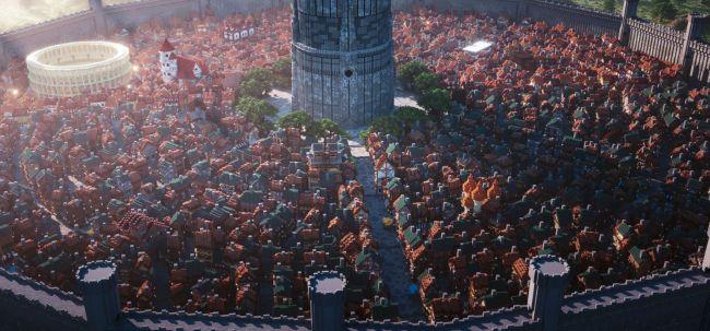 Посмотрите на этот огромный город сделанный профессионалами Майнкрафта